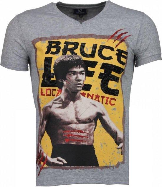 Local Fanatic Bruce Lee Hunter - T-shirt - Grijs - Maten: M