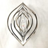 """Cosmo Spinner - ca. 5"""" / 10.5x15.5x10.5 cm, Nature's Melody windspinner Cat's eye / Kattenoog"""