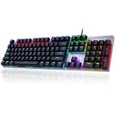 AULA S2016 RGB mechanisch gaming toetsenbord - qwerty - blue switch - 104 keys anti-ghosting game toetsenborden