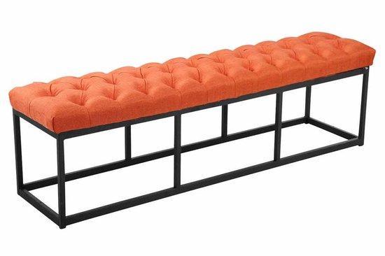 Clp Amun - Zitbank - Zwart frame - Stof - Oranje 150 cm