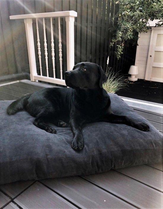 MaxxNobel - Hondenkussen - Ribcord - L - 100 x 70 cm - Zwart