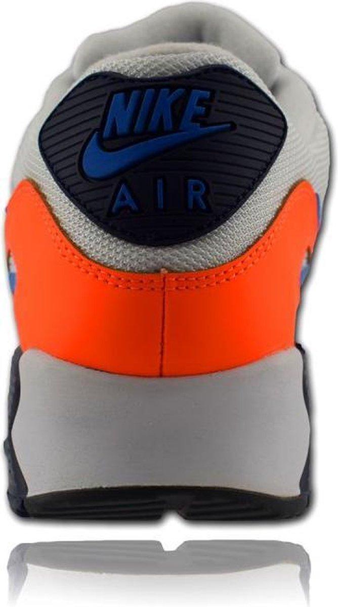 Nike Air Max 90 Essential wit/oranje/blauw maat 42 Sneakers