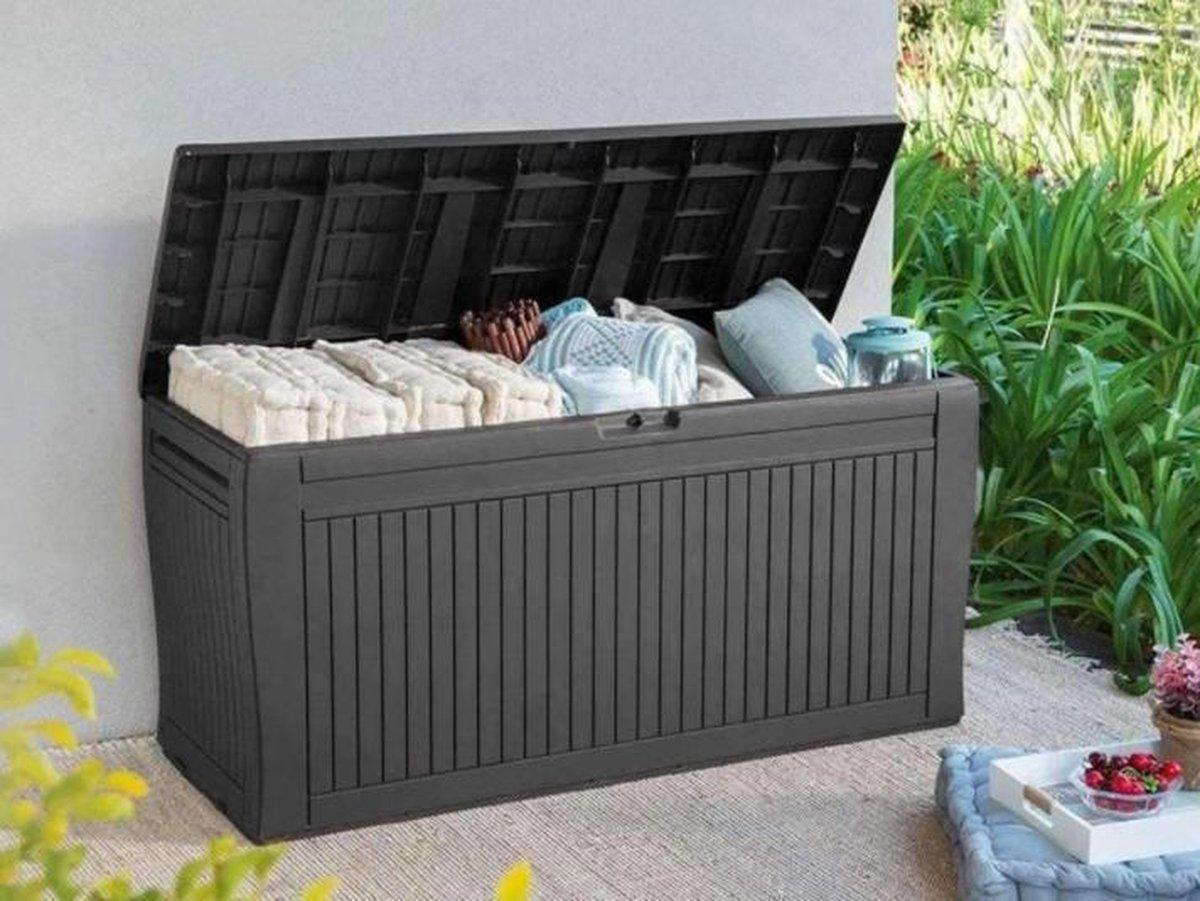 Keter tuinkussen opbergbox   270 L   Tuinkussenbox   Tuinkast   Tuinbox   Atraciet