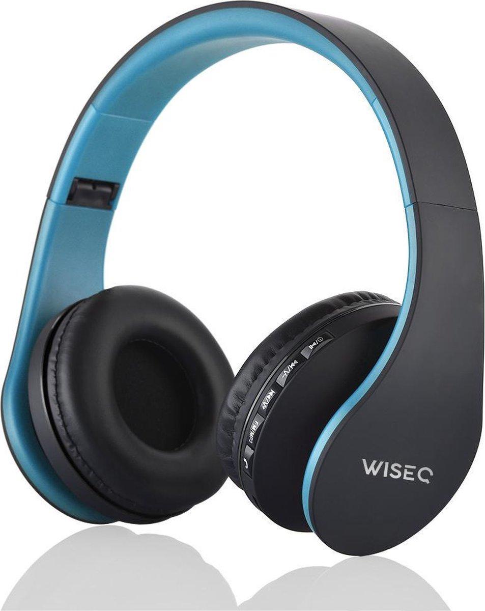 WISEQ Draadloze Kinder Koptelefoon – Bluetooth Koptelefoon voor Kinderen – over ear – 8 uur muziek  blauw