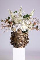 Bloempot Leeuw - Lion - Clarence - Goud gold - plantenbak -plantenpot - vaas - binnen -overkapping - plant -bloem - boeket