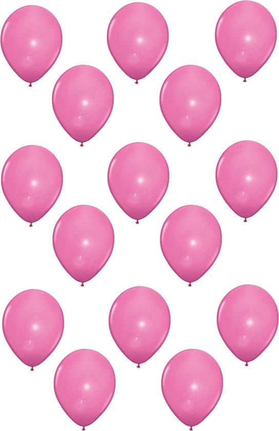 15x stuks Led lampjes/licht ballonnen lichtroze 27 cm - Feestartikelen/versiering