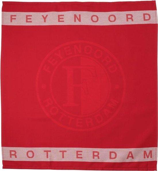 Feyenoord Theedoek, rood/wit