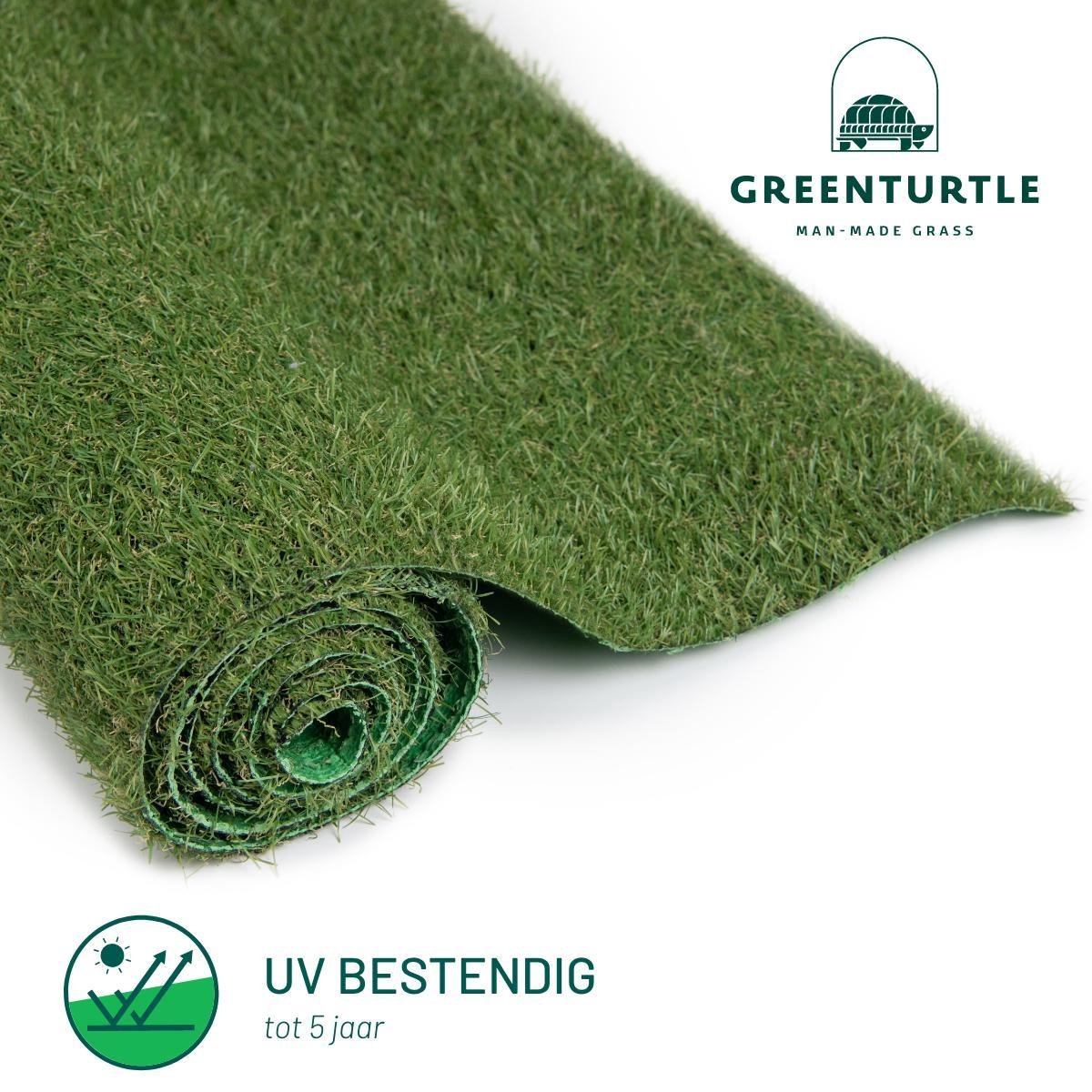 Green Turtle Kunstgras - Grastapijt 100x200cm - 21mm - Wimbledon - Artificieel Gras - Grastapijt voo