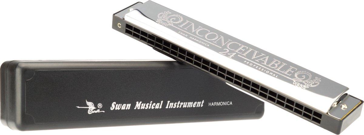 Swan diatonische harmonica 24 Tremolo - mondharmonica - C-majeur - 48 gaats