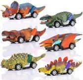 Jurassic Dino Racers - Dinosaurus Speelgoed Autos Set Jongens - Set van 6