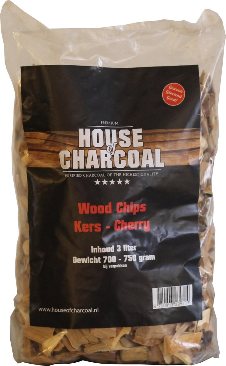 Rookhout snippers Kersen - Wood chips Cherry - 3 liter