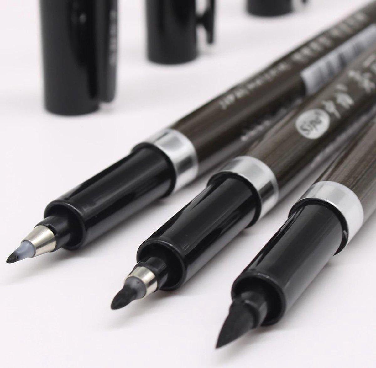 Kalligrafie set - kalligrafie stiften - kalligrafie set voor beginners - 3 stuks - kalligrafie pennen - kalligrafie pennen set