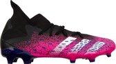 adidas Predator Freak .3 Sportschoenen - Maat 42 2/3 - Mannen - zwart/roze/wit/paars