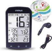Cycplus® Draadloze & Waterbestendige Fietscomputer - Datavisualisatie d.m.v Bluetooth - Fiets GPS - Extra Groot Scherm - Zwart