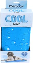 Kowloon Cool mat blauw bubble L, 90x50 cm.
