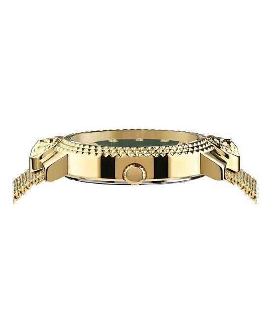 Versus Versace Mouffetard Gold Green Swarovski - Dameshorloge - VSPLK1620 - Goud - Green - RVS Mesh horlogeband - 38 MM