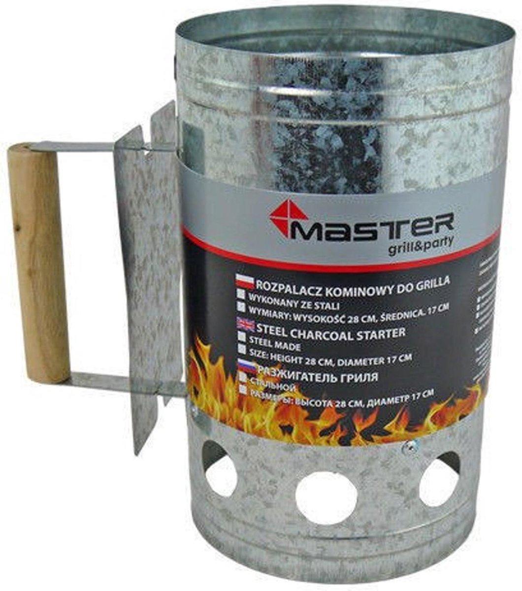 Barbecue houtskoolaansteker gemaakt van roestvrij staal Schoorsteen 17cm diameter