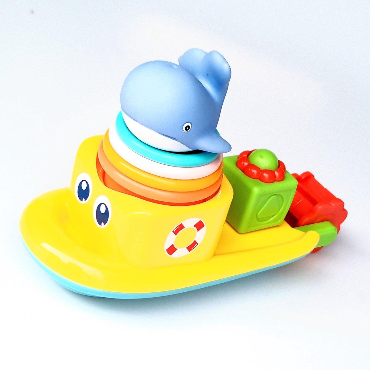Jobber Waterplay Badspeelgoed - Waterrad Bad Boot - Stapel emmertjes