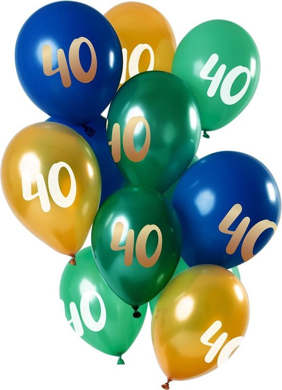 Ballonnen 40 Jaar Mix 30cm 12st