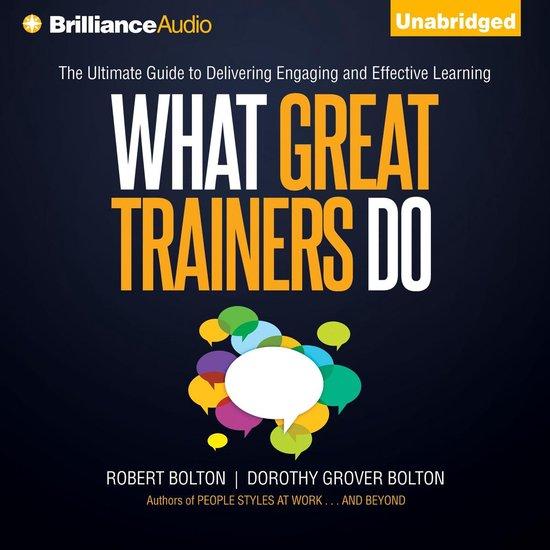 Boek cover What Great Trainers Do van Robert Bolton (Onbekend)