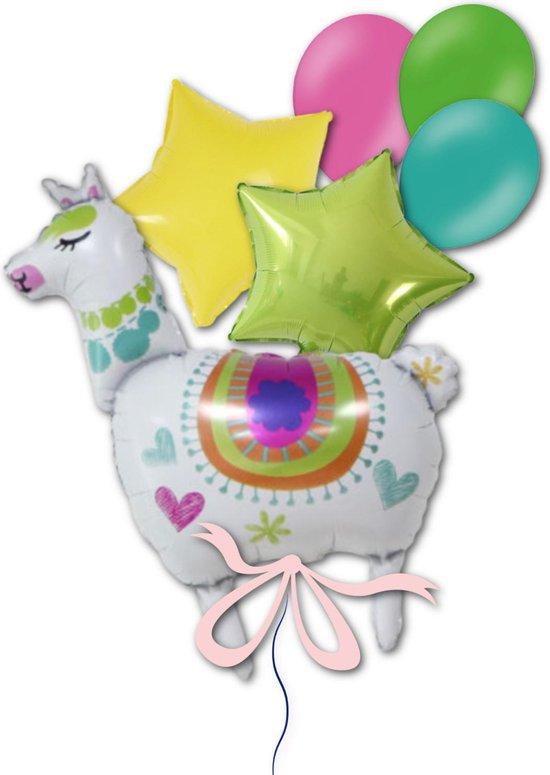 Helium Folie Ballon Alpaca Lama Kinderverjaardag Versiering    Geschikt voor Helium