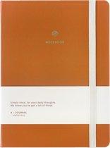 A-Journal Notitieboek A5 - Hardcover - Terracotta - Brique - Gelinieerd