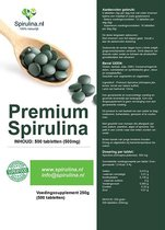 Spirulina.nl - spirulina tabletten 500mg - 500 tabletten
