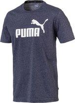 Puma Essentials+ Heather T-shirt - Mannen - donker blauw/wit