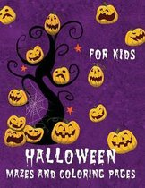 Halloween Mazes and Coloring Pages