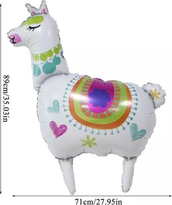 Folie ballon Lama wit 89x71cm kindercrea
