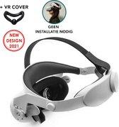 Oculus Quest 2 Elite Strap + VR Cover - Vervanging voor Elite Strap - Verstelbare Comfortabele Riem met Hoofdkussen - Vermindert de druk
