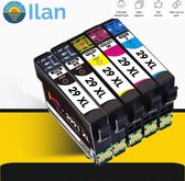 Ilan's inktcartridges voor Epson 29XL | Multipack van 5 cartridges voor Expression Home XP-235 - XP-245 - XP-247 - XP-342 - XP-345 - XP-355 - XP-435 - XP-442 - XP-445 - XP-452 - XP-455