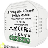Smart Home Inbouw dimmer module - dubbel - Wifi - LED - Halogeen