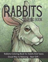 Rabbits Coloring Book