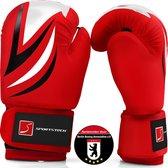bokshandschoenen kinderen - PU-leer - voor training met bokszak - Sportstech BXG kinderbokshandschoenen - Rood