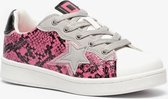 Blue Box meisjes sneakers met slangenprint - Roze - Maat 33
