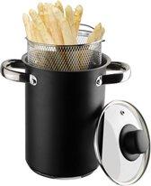 Gusta Zwarte Asperge-Spaghettipan 4ltr - PLUS GRATIS SET WIMPERS - Assortiment 'Het Gemak'