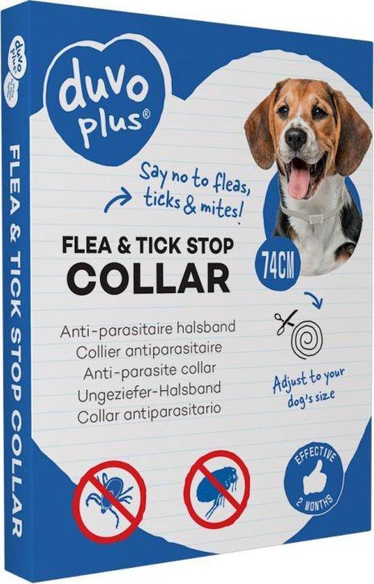 Anti-parasitaire halsband tegen vlooien, teken, mijten en luizen - Voor alle honden vanaf 3 maanden - 74 cm