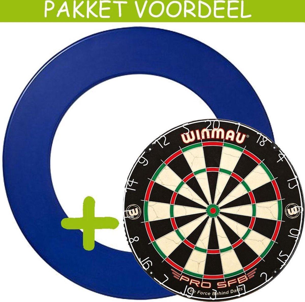 Dartbord Surround VoordeelPakket - Pro SFB - Rubberen Surround-- (Blauw)