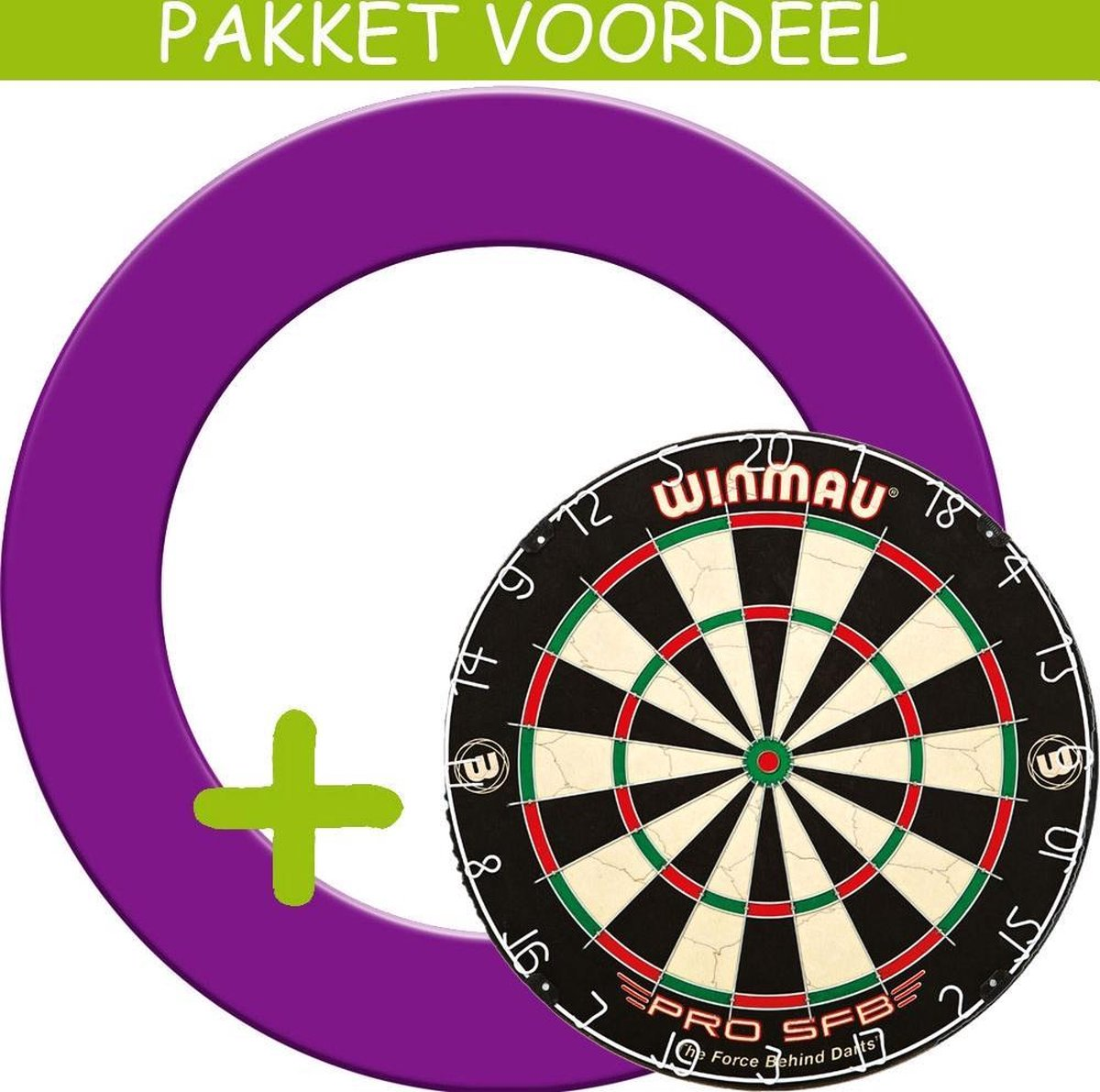Dartbord Surround VoordeelPakket - Pro SFB - Rubberen Surround-- (Paars)