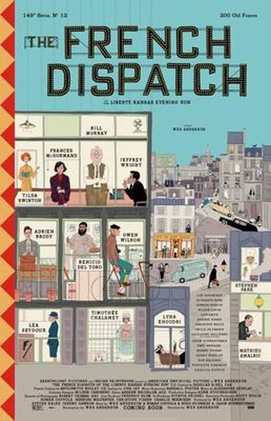 Boek cover The French Dispatch van Wes Anderson (Hardcover)