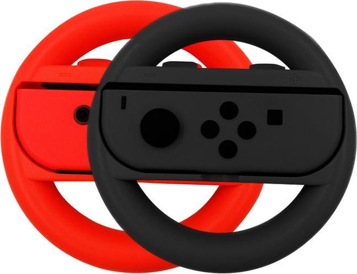 Switch stuur voor Joy-Con - 2 stuks - Zwart/Rood - Nintendo Switch Accessoires - Geschikt voor Ninte