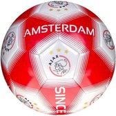 Ajax voetbal unisex rood/wit