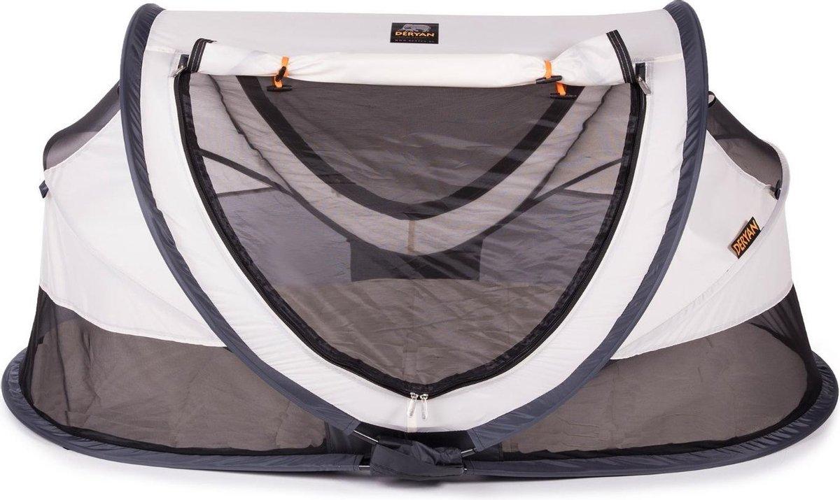Deryan Peuter Luxe Campingbedje   Inclusief zelfopblaasbare matras - Cream - 2021