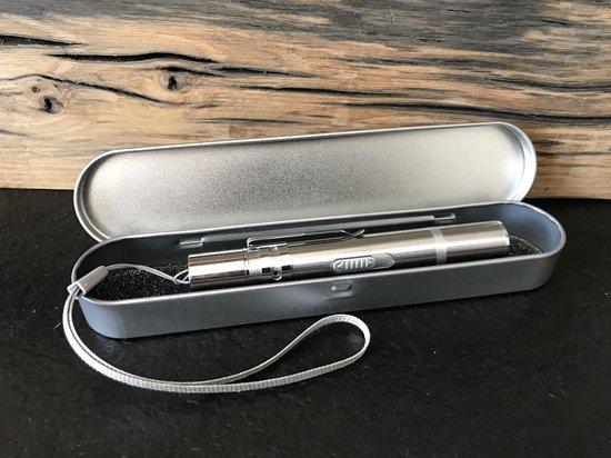 Afbeelding van laserpen - USB oplaadbaar - laserstraal, UV licht en led licht - inclusief opberg/beschermdoosje - multifunctioneel