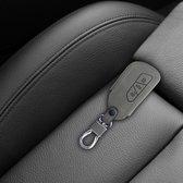 kwmobile autosleutelhoes voor VW Golf 8 3-knops autosleutel - beschermhoes van imitatieleer - Rallystrepen design - grijs