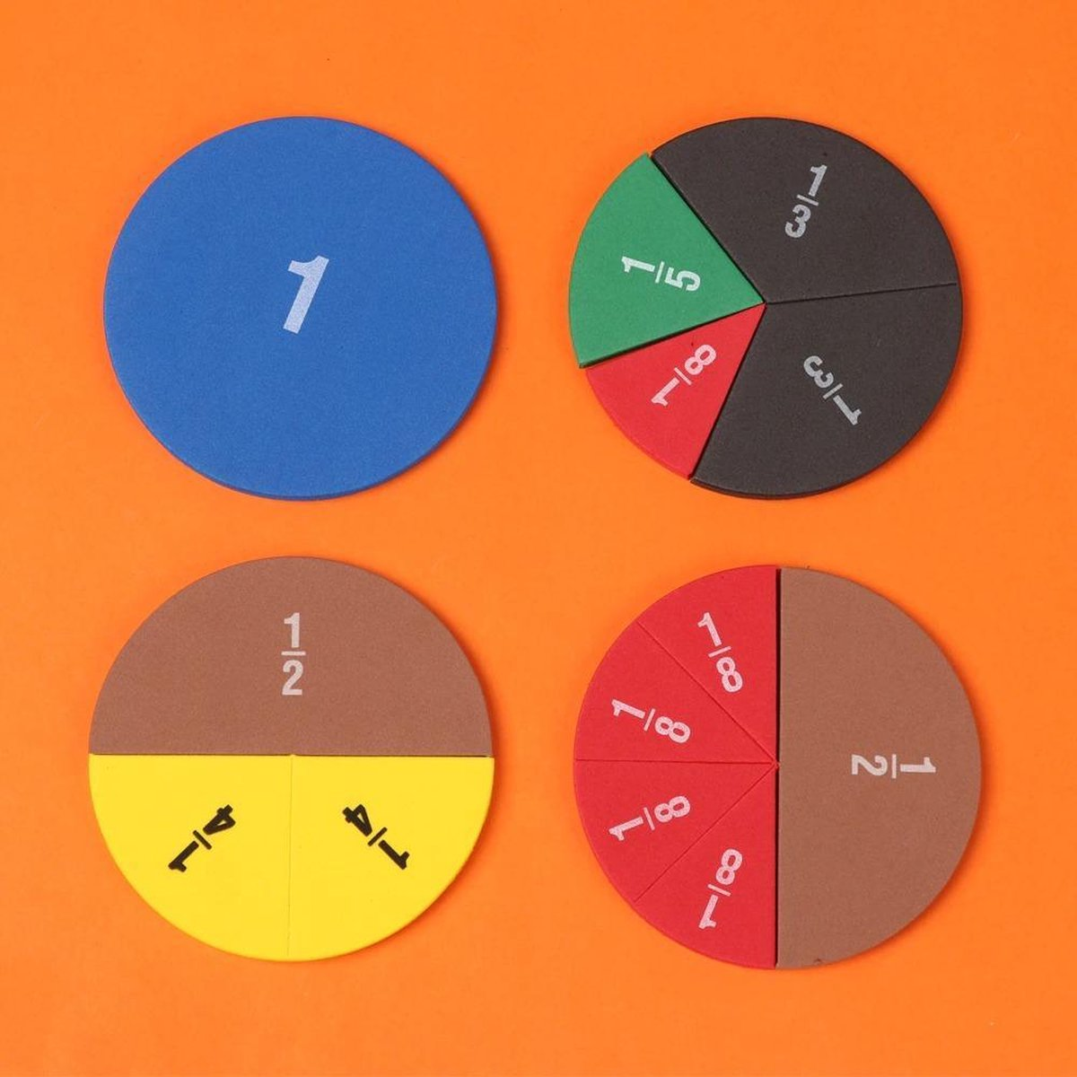 WiseGoods Leuke Breuken Puzzel - School Speelgoed - Spelend Leren Rekenen - Kleurrijk - Verhoudingen - Voor elke Leeftijd