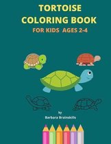 Tortoise Coloring Book for Kids Ages 2-4