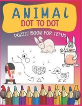 Animal Dot To Dot Puzzle Book For Teens