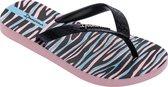 Ipanema Slippers - Maat 33/34 - Meisjes - zwart - roze - lichtblauw